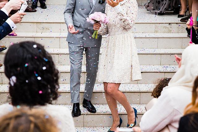 bruiloft vieren bruid bruidegom