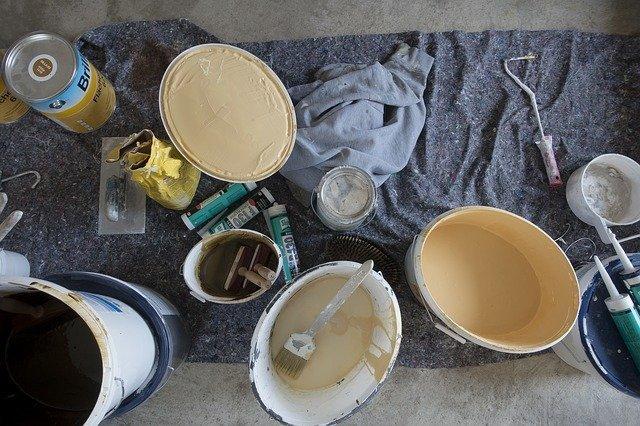 schilderen verf kwasten